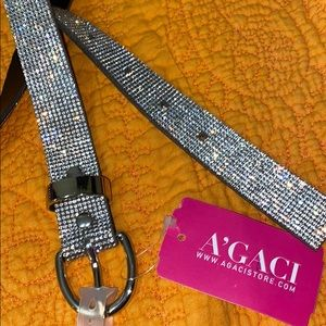 a'gaci Accessories - Bling Belt: Silver